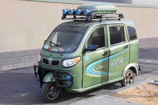 Electric Car, Transport, Three-wheeled Electric Car