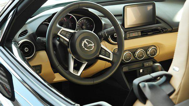 Auto, Vehicle, Steering Wheel, Seat, Chrome, Sports Car