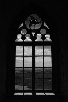 Window, Sky, Landscape, Architecture, Castle