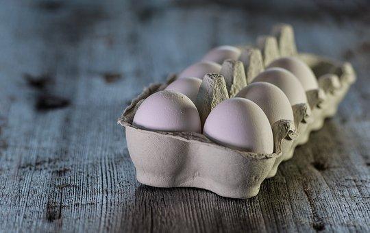 Eggs, Raw, Dairy, Wooden, Wood, Desktop, Closeup, Table