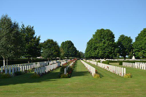 Military Cemetery, Normandy, Graves, Peace, World War