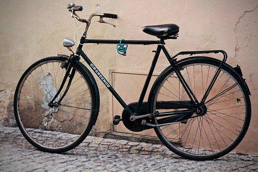 Bicycle, Old, Wheel, Pedal, Padlock, Handlebars