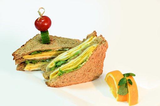 Brown Bread, Toast, Sandwich, Breakfast, Orange, Eggs