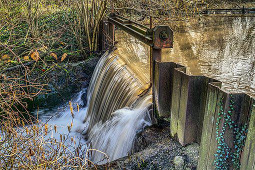 Waterfall, Movement, Wave, Brown, Water, Flow, Fall