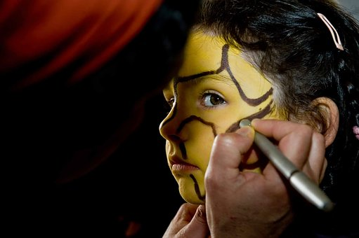 Child, Carnival, Makeup