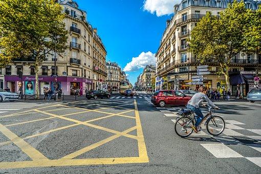 Paris, Parisian, France, Urban, Street, City, Traffic