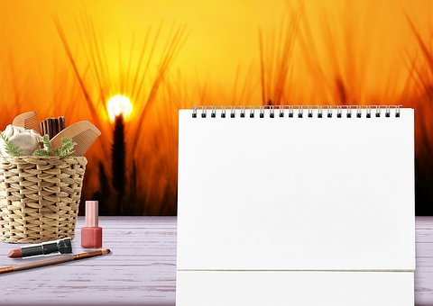Cosmetics, Lipstick, Calendar, Table Calendar