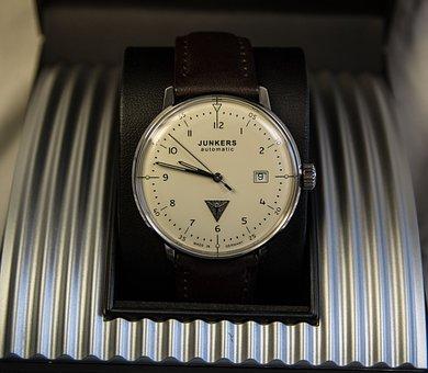 Junkers, Clock, Wrist Watch, Bauhaus, Design