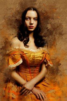 Gothic, Fantasy, Art, Portrait, People, Woman, Female