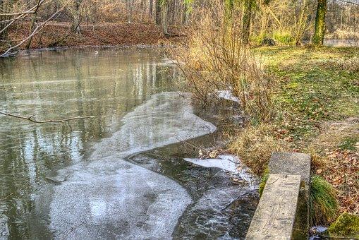 Frozen, Lake, Ice, Ice Rink, Cold, Sun, Mirroring