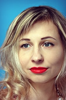 Portrait, Woman, Fashion, Girl, Lovely, Red Lips