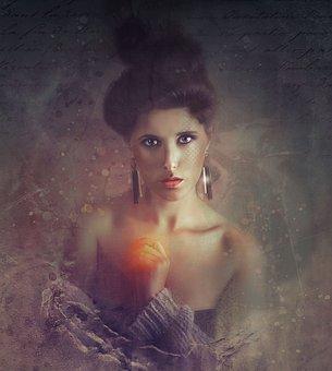 Gothic, Dark, Art, Woman, Portrait, Adult, People