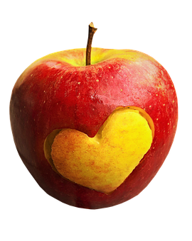 Apple, Fruit, Heart, Food, Healthy, Fresh, Organic, Red