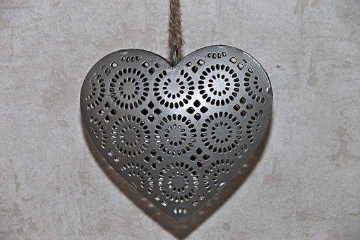 Heart, Metal, Decoration, Metallic, Heart Shaped