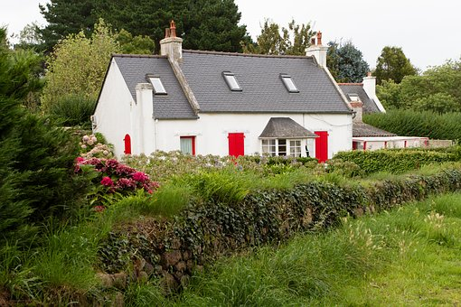 Home, Grass, Bungalow, Architecture, Summer, Brittany
