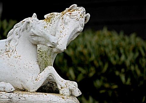 Horses, Sculpture, Figure, Art, Horse Head, Statue