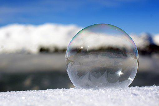 Soap Bubble, Freezer, Winter, Cold, Ice Cold, Ice