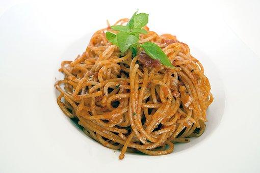 Pasta, Spaghetti, Tomato, Basil, Italian, Mediterranean