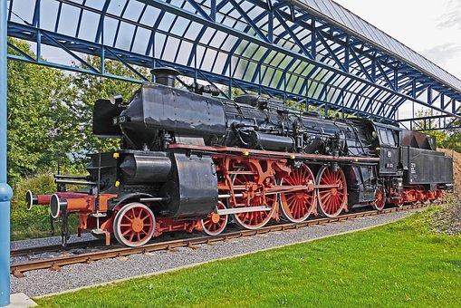 Steam Locomotive, Monument, Offenburg, Oberhheinstrecke