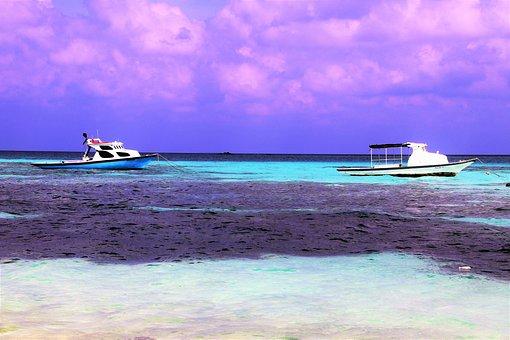 Maldives, Fabulous Colors, Ocean, Cay, Blue