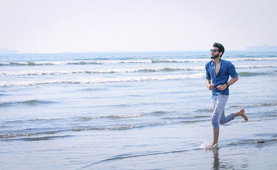 Water, Nature, Sea, Sand, Outdoors, Man, Young
