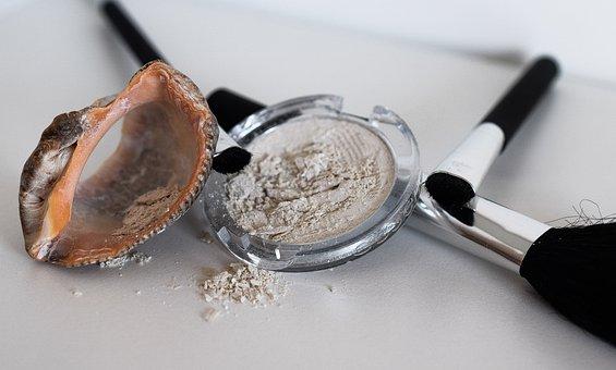 Makeup, Shadows, Powder, Round