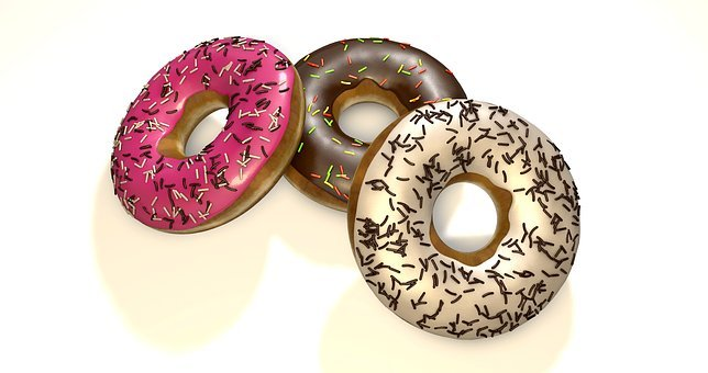 Donuts, Refreshment, Delicious, Dessert, Background