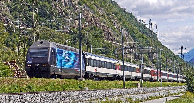 Express Train, Swiss Federal Railways, Sbb, Cff, Ffs