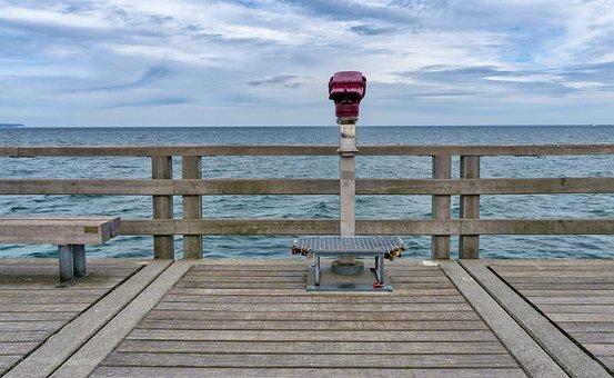 Waters, Sea, Pier, Nature, Baltic Sea