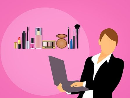 Makeup, Cosmetics, Perfume, Selling, Business Woman