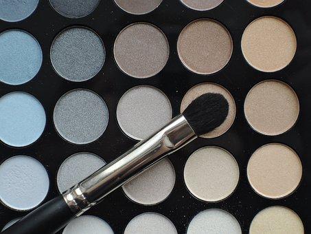 Palette, Shadow, Beauty, Makeup, Cosmetics, Brush