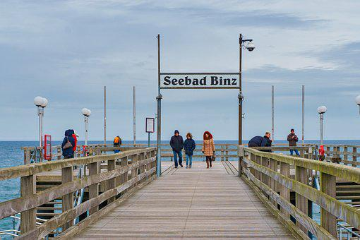 Waters, Sea, Travel, Pier, Sky, Baltic Sea