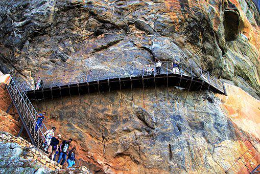 Stairs, Metal, The Design Of The, Nature, Rock, High