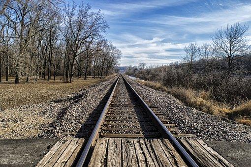 Railroad Track, Guidance, Railway, Track, Road