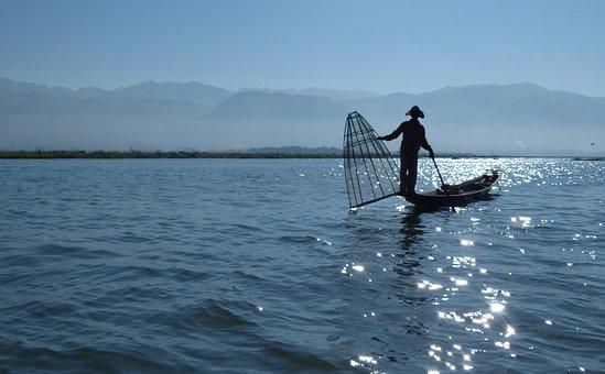 Water, Sea, Boat, Watercraft, Lake, Myanmar