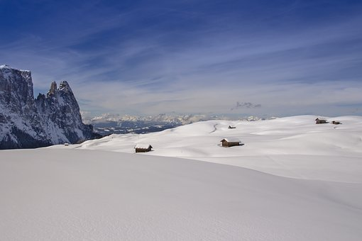 Snow, Winter, Alpine Hut, Landscape, South Tyrol