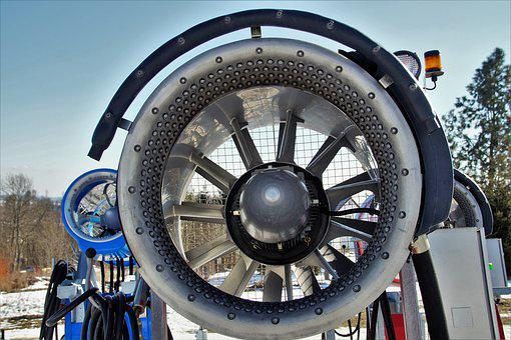 Snow Cannon, Artificial Snow, Turbine, Propeller