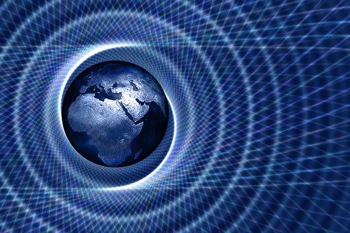 Spiral, Africa, Europe, Asia, Globe, Present, Usa, Flag