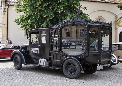 Vehicle, Auto, Hearse, Funeral, Coffin Transport