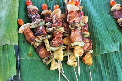 Spit, Food, Barbecue, Kebab, Gourmet, Meal, Vegetables