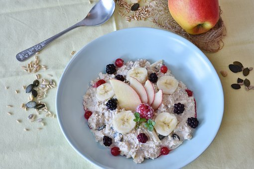Muesli, Porridge, Breakfast, Healthy, Nuts, Eat, Cook