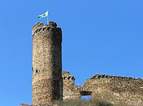 Castle, Ruin, Ardeck, Keep, Middle Ages, Fortress