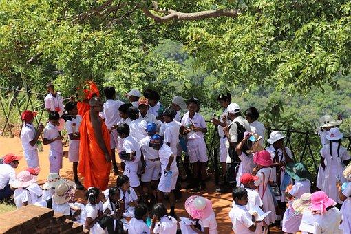 Buddhist, Students, Tour, People, Religion, Child