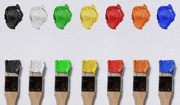 Brush, Color, Canvas, Farbkleckse, Art, Art And Craft