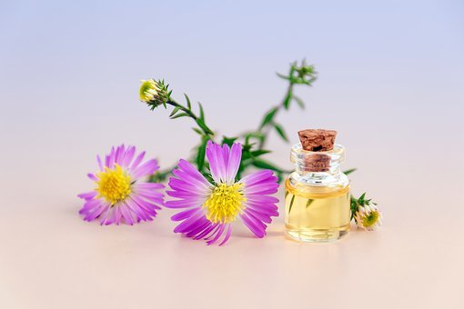 Cosmetic Oil, Essential Oil, Natural Product, Flowers