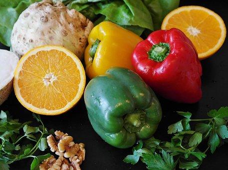 Paprika, Salad, Food, Healthy, Vegetables, Diet, Fresh