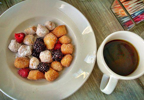 Food, Sweet, Refreshment, Breakfast, Donut, Coffee