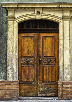 Portal, Art Nouveau, Door, Old Door, Wooden Door