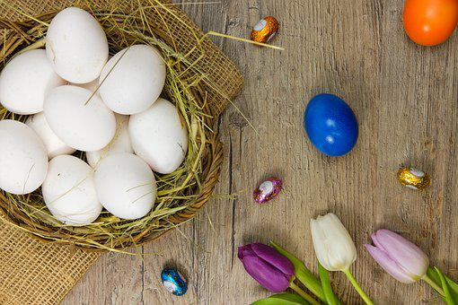 Egg, Easter Eggs, Colorful Eggs, Colorful, Tulips