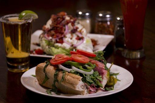 Food, Meal, Epicure, Meat, Plate, Sub Sandwich, Italian